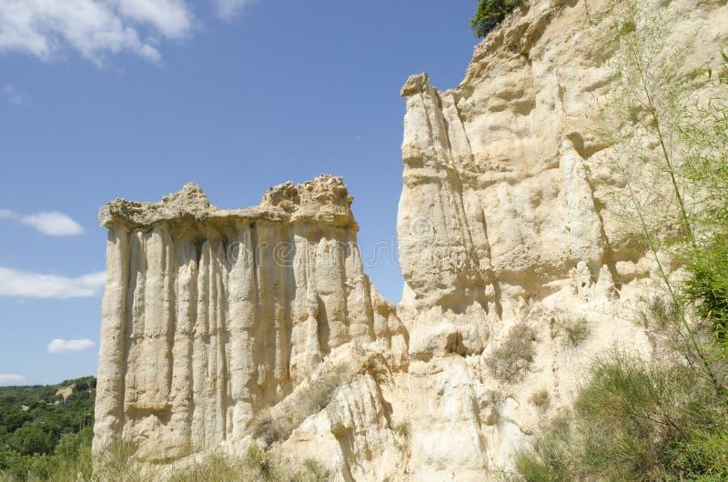 Érosion géologique en France photo stock