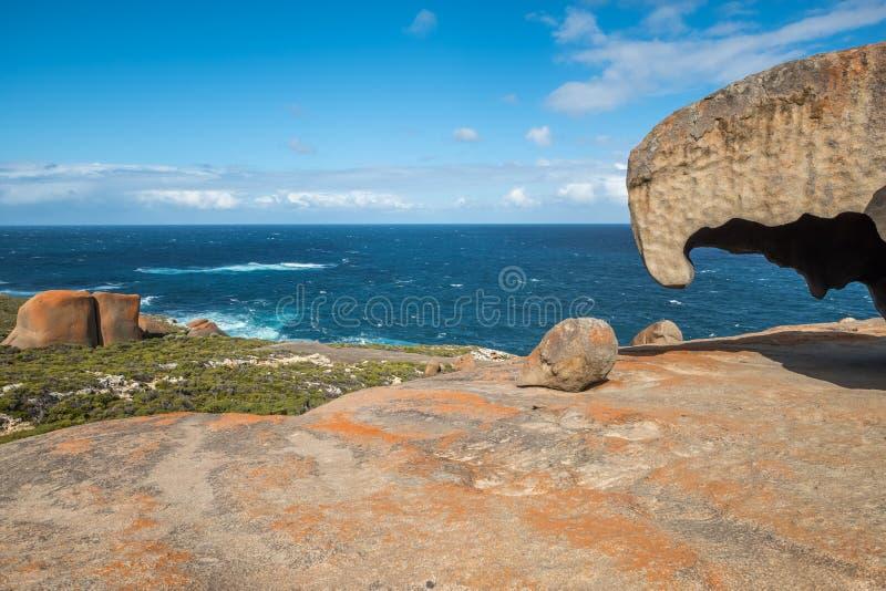 Érosion peu commune aux roches remarquables, île de kangourou, Australie du sud image stock