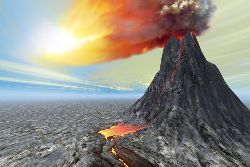 Éruption illustration de vecteur