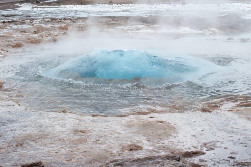 Éruption de geyser de Strokkur image stock