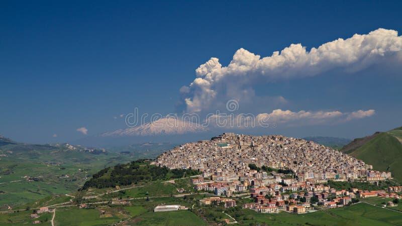 Éruption de l'Etna image stock