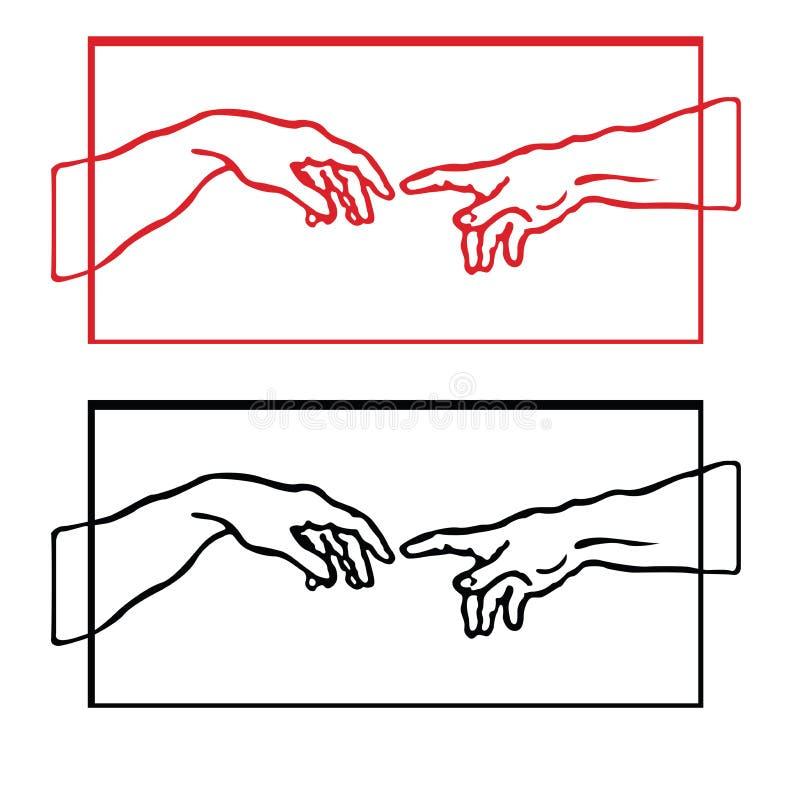 Ésta es caja del rectángulo de la mano stock de ilustración