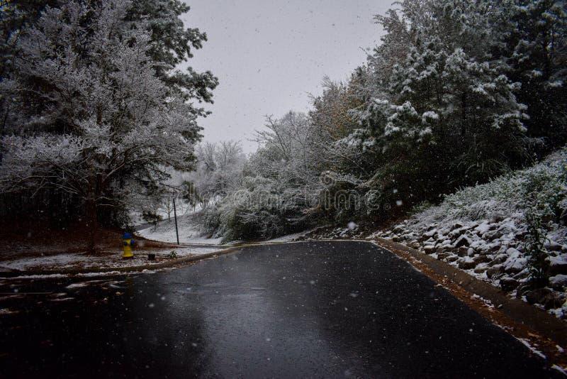 Ésta es una imagen de las nevadas de la madrugada fotos de archivo libres de regalías