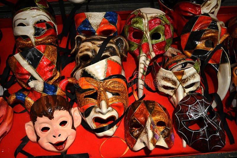 Máscaras de Venecia foto de archivo