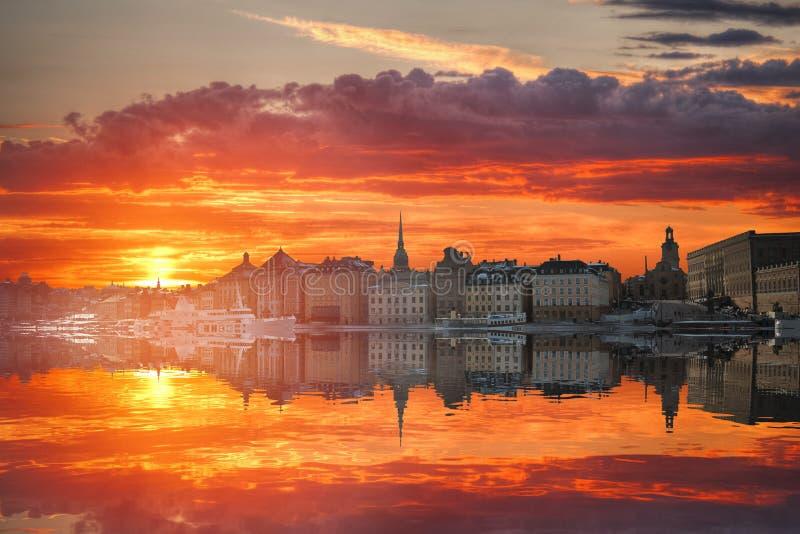Éstocolmo é a Suécia principal imagem de stock