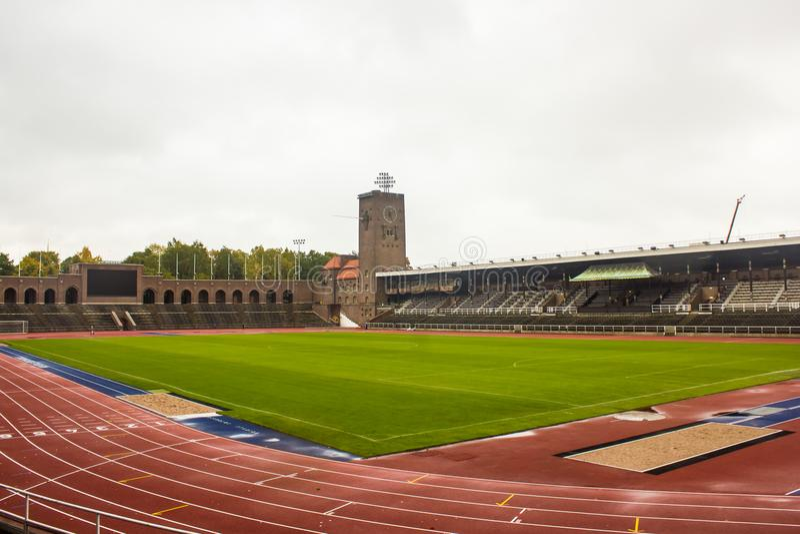 Éstocolmo o Estádio Olímpico, vista geral do noroeste imagem de stock royalty free