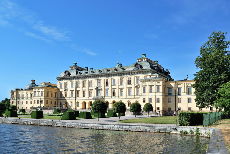 Éstocolmo. Palácio de Drottningholm fotografia de stock