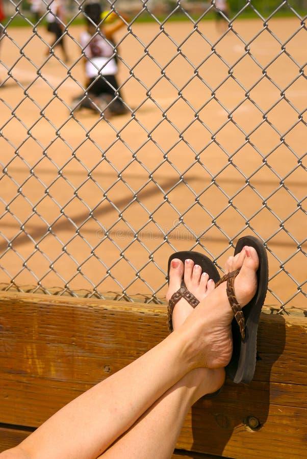 Été au stade de base-ball photos libres de droits