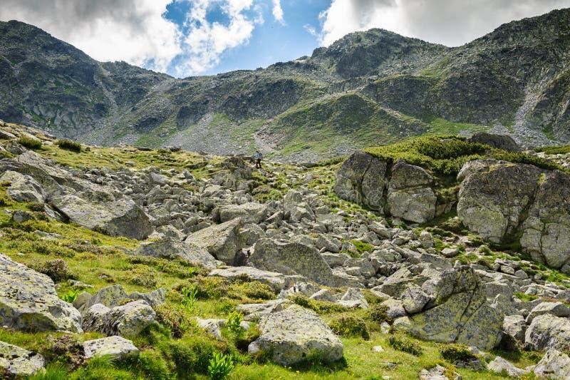 Été augmentant dans les montagnes image libre de droits