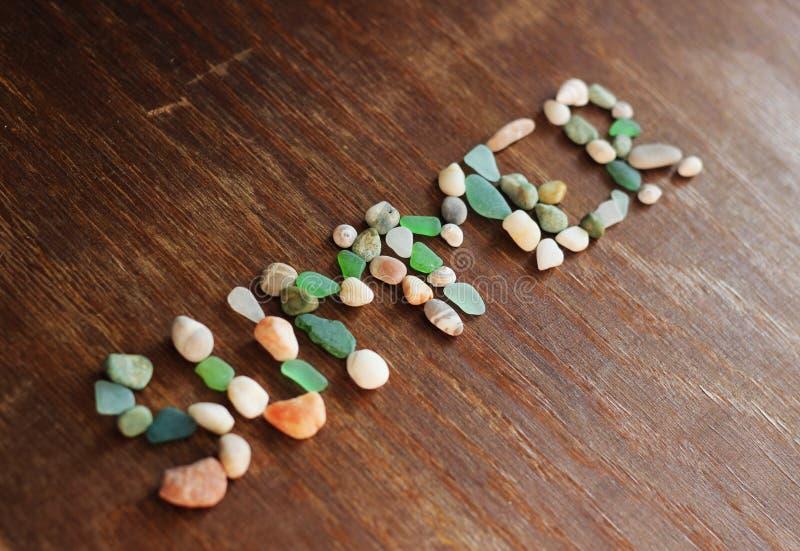 Été, coquilles de mer, pierres photographie stock