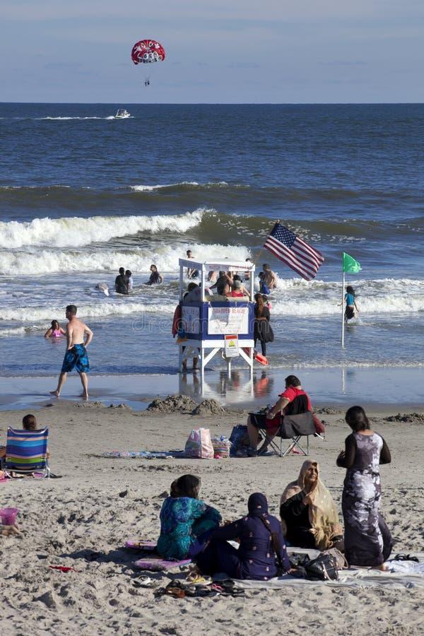 Été dans la ville d'océan, New Jersey image libre de droits