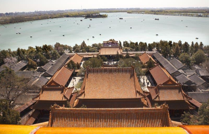 été de palais de longévité de lac de kunming de côte de Pékin image stock