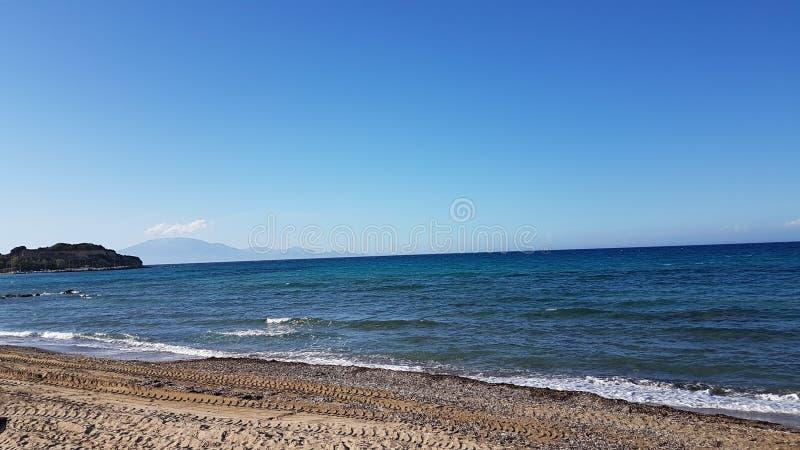 Été 2017 de plage de Stintino image libre de droits