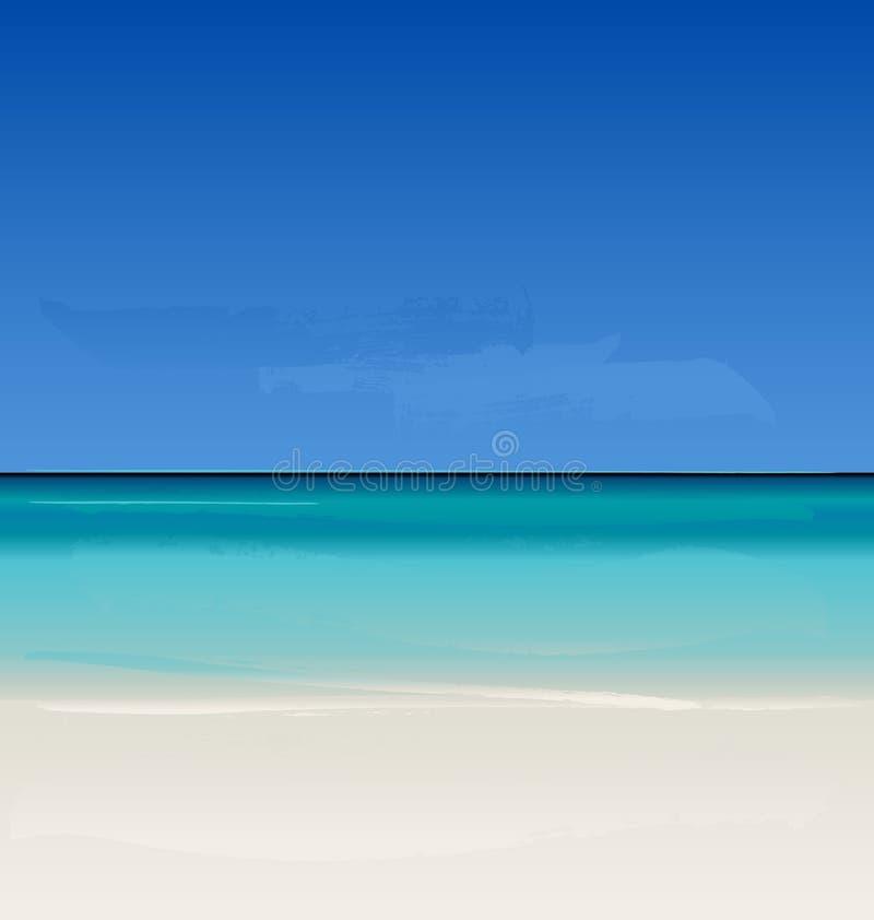 Été de vecteur à la plage illustration libre de droits