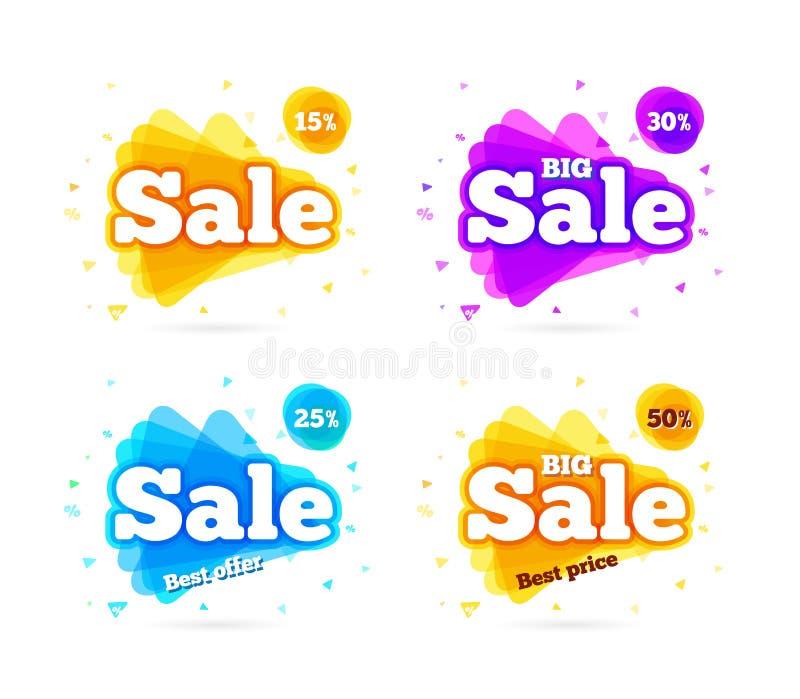 Été de vente de bannière de Web illustration stock