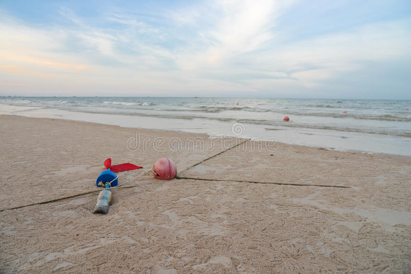 Été et la plage photo libre de droits