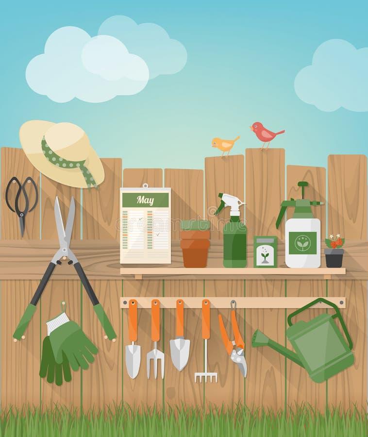 Été faisant du jardinage à la maison
