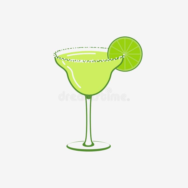 Été Margarita Cocktail illustration de vecteur