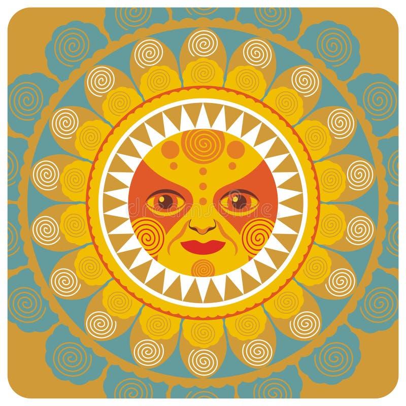 Été Sun illustration de vecteur