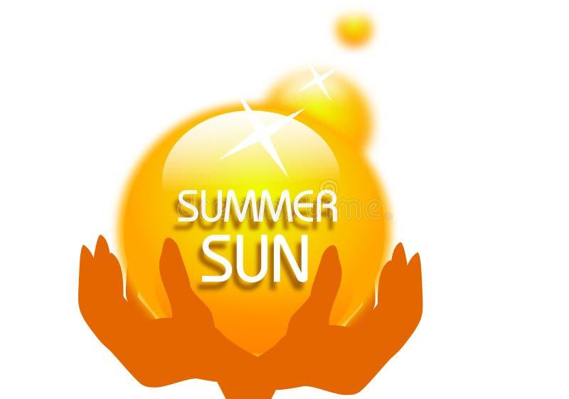 Été Sun dans des mains illustration libre de droits