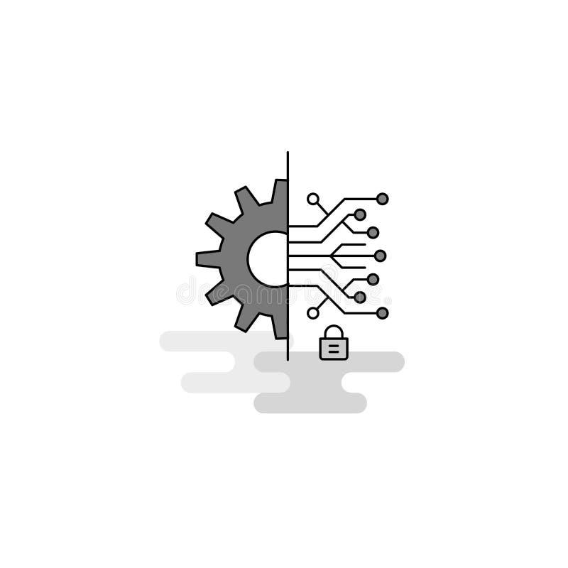 Établissement de l'icône de Web de vitesse La ligne plate a rempli Gray Icon Vector photo libre de droits