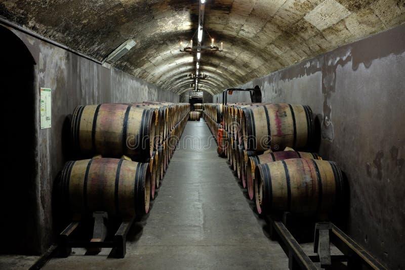 Établissement vinicole célèbre français photographie stock
