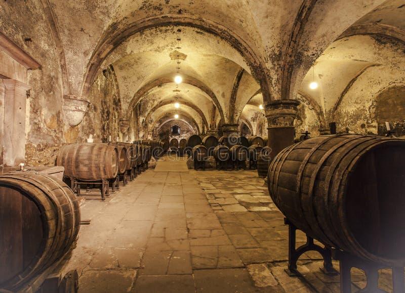Établissement vinicole d'Allemand de l'eltville AM Rhein Rheingau d'Eberbach de monastère photos stock