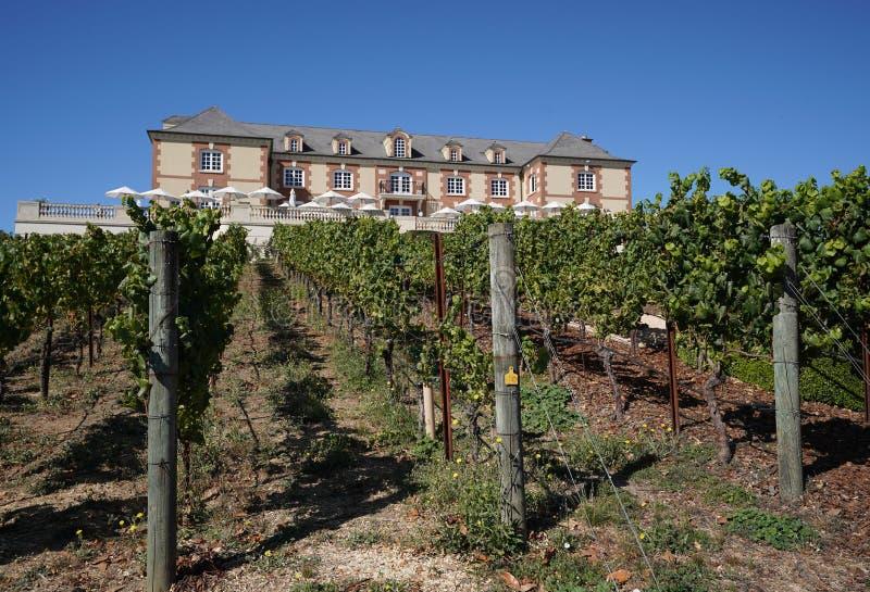 Établissement vinicole de Domaine Carneros dans Napa Valley photographie stock