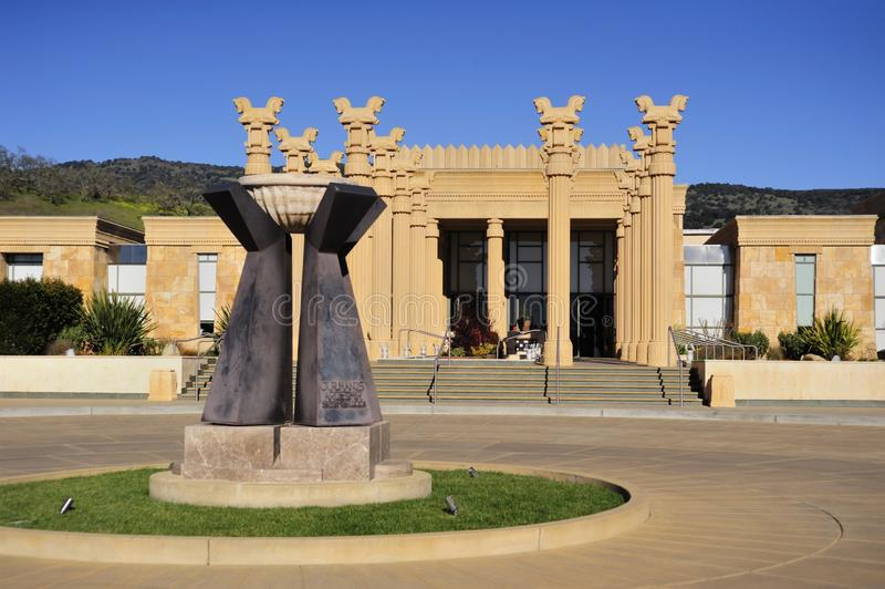 Établissement vinicole de la Californie dans le type persan image libre de droits
