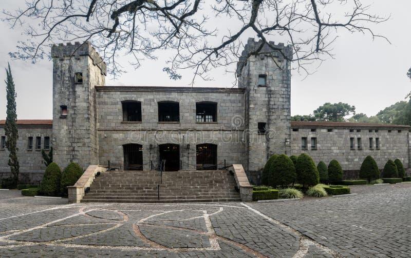 Établissement vinicole et restaurant de château de Lacave - Caxias font Sul, Rio Grande photo stock