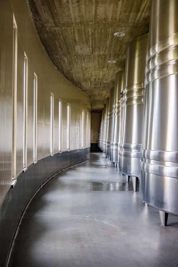 Établissements vinicoles de La Rioja en Espagne photographie stock libre de droits