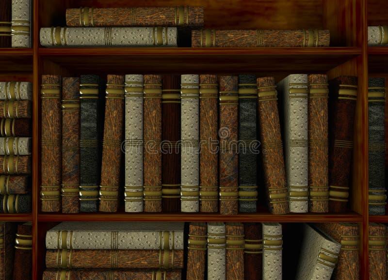 Étagère dans la bibliothèque illustration stock