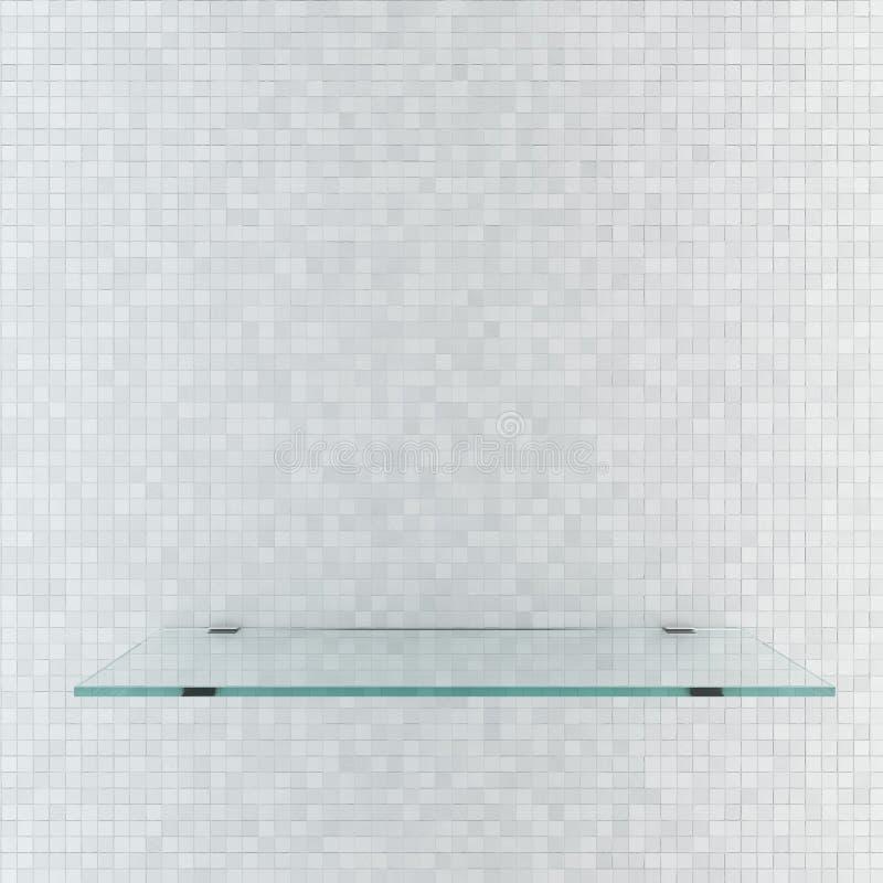 Étagère en verre images stock