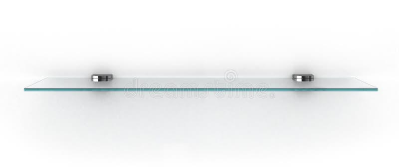 Étagère en verre vide sur le blanc illustration libre de droits