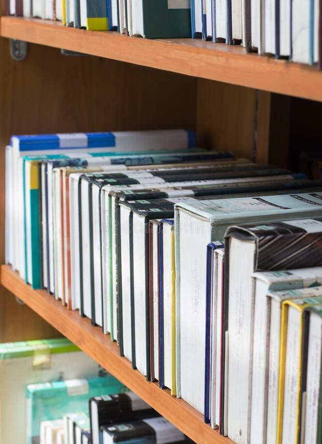Étagères à livres photographie stock