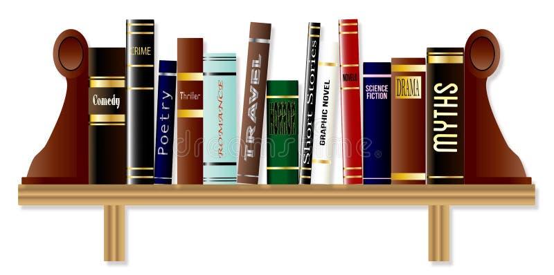 Étagères à livres de genre illustration stock