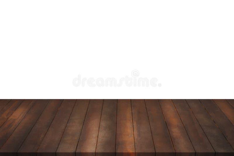 Étagères en bois sur le fond blanc d'isolement images libres de droits