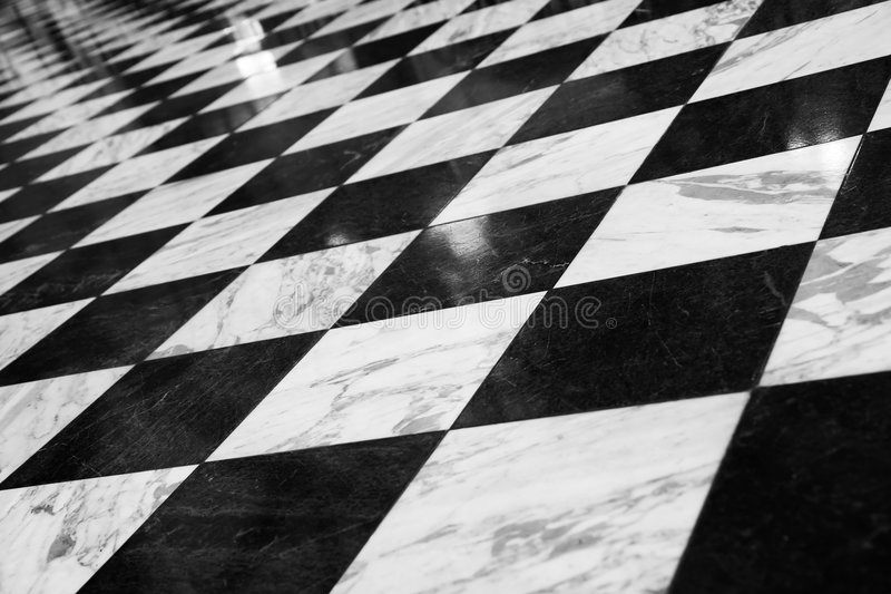 Étage Checkered Photographie stock