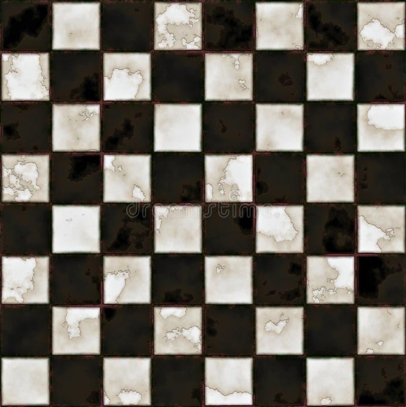 étage de marbre noir et blanc illustration de vecteur