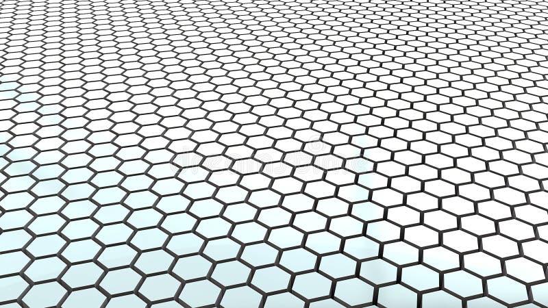 Étage de réseau d'hexa illustration de vecteur