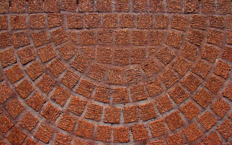 Étage semi-circulaire de terre cuite de mosaïque photographie stock