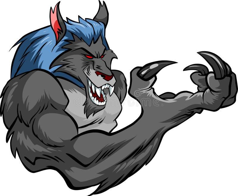 Étaient le loup illustration stock