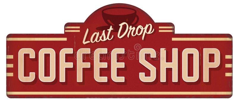 Étain des années 1960 des années 1950 des années 1940 de signe de cru de café illustration libre de droits