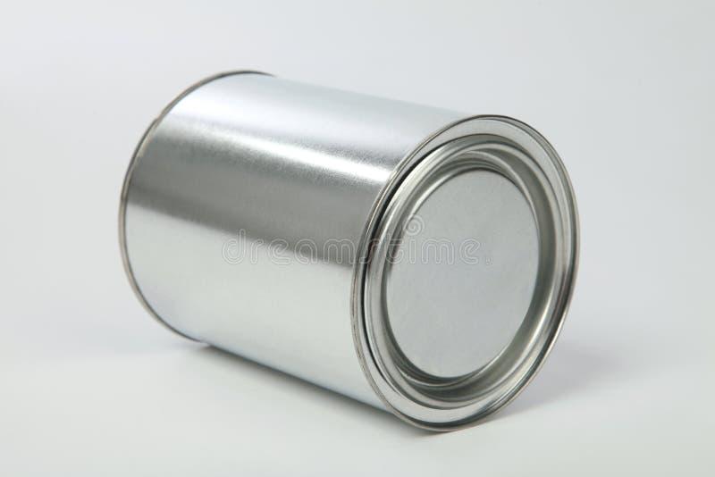 Étain en métal photographie stock libre de droits