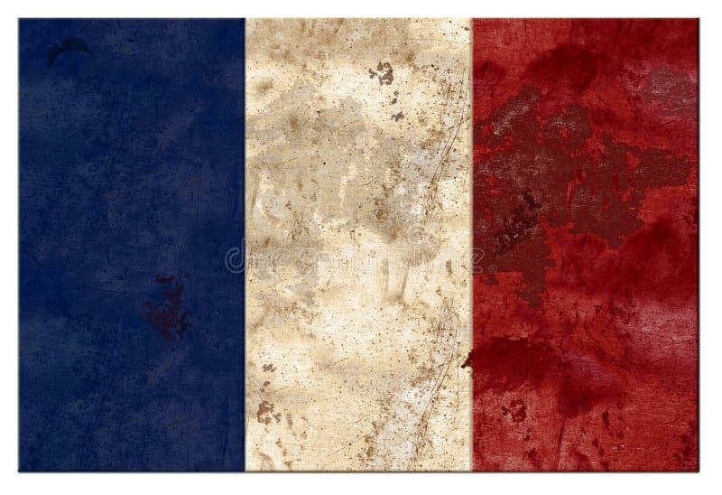 Étain français de grunge de drapeau de Frances photos libres de droits