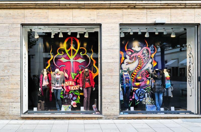 Étalage de mode à Londres photo stock