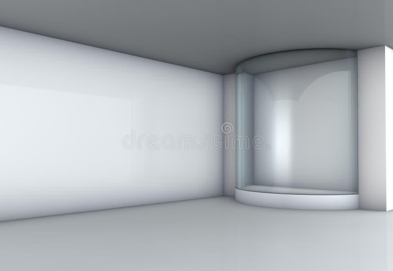 Étalage en verre dans la rampe illustration de vecteur