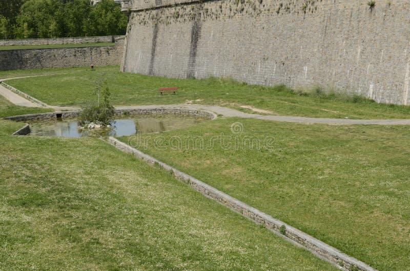 Étang à la citadelle Pamplona images libres de droits