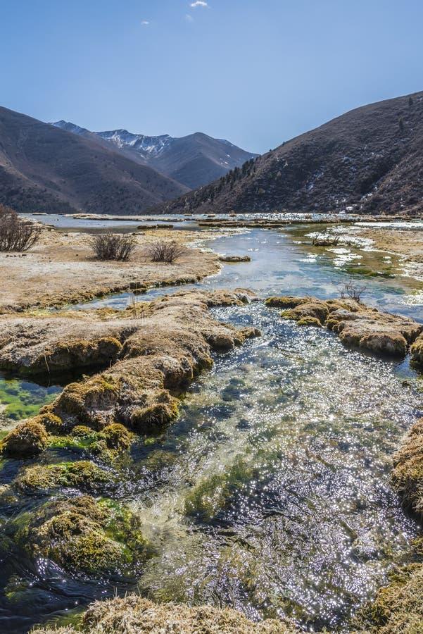 Étang calcifié bronzage de Quanhua photographie stock libre de droits