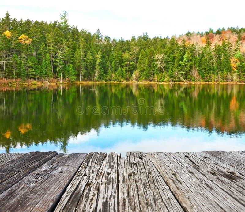 Étang dans la réserve forestière blanche de montagne, New Hampshire photographie stock